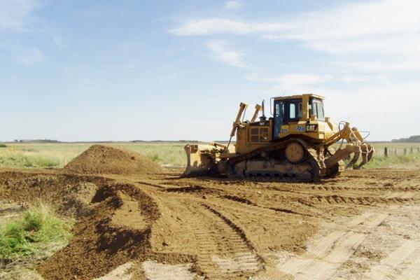 Bulldozer Road Construction