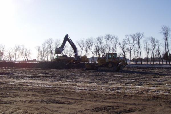 Excavating at Dusk
